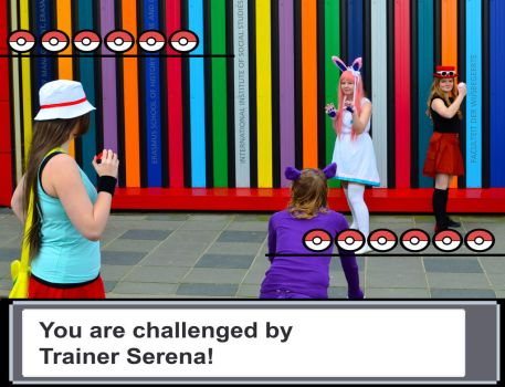 Pokemon - Leaf is challenged by Serena by khfanT