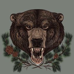 Bear Design for Redbubble by RussianBlues