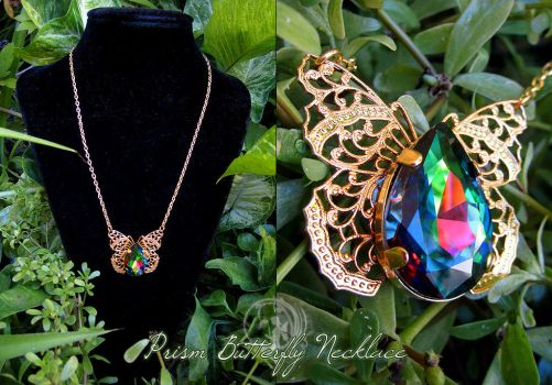 Prism Butterfly Necklace by Firefly-Path