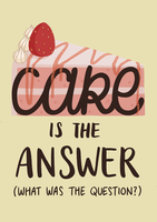 Cake Is The Answer by hymnaria