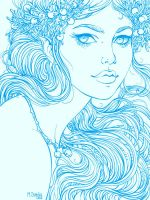 White Fairy_line by dimary