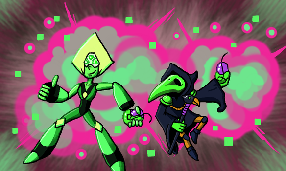 Peridot and Plague Knight by ScepterDPinoy