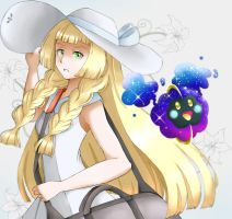 Lillie and Cosmog by Shirokkon