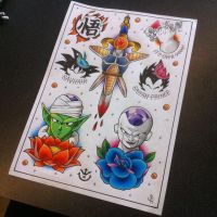 Dragon Ball Z Tattoo Flash Sheet by Hamdoggz