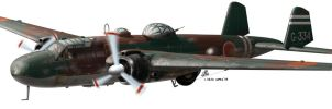 Mitsubishi G3M2 by araeld