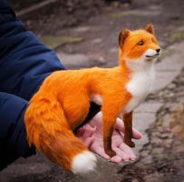 Fox Needle Felted Finn by Lyntoys