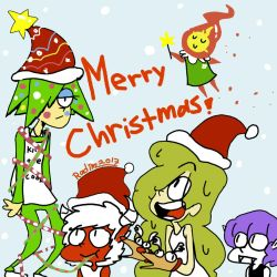 Sitter tree: Merry Christmas! by TheRACOONIST