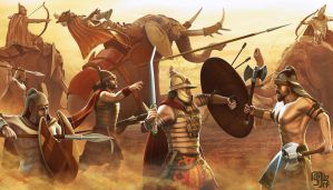 Thracian Battle by sash4all