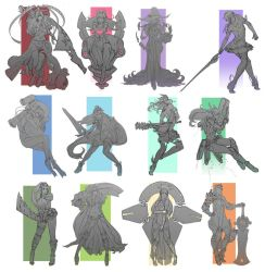Doodle 2015 - Character design compilation by doghateburger