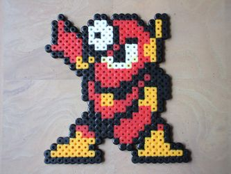 Perler Metalman by NES--still-the-best