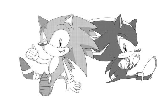 Line Drawing Hedgehog : Sonic and aaron chili dogs by bj the thhedgehog on deviantart