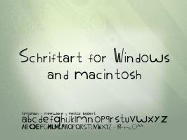 Font for Win und Mac by Feehily