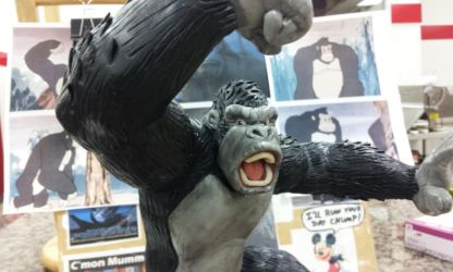 King Kong figure sculpt view 1 by Speezi