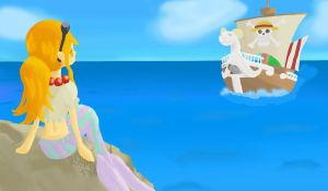 Nami mermaid - let the story go on by NellyPixit