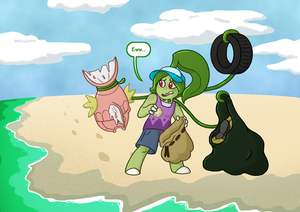 PKMNSkies: Cleaning the Beach by spud133