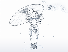 [Splatoon] Spring time Marie by Cyba-Fyba