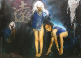 Pale Hair Girl Series : Somewhere beyond my reach by michaelandrewlaw