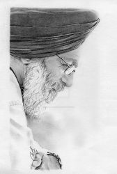 Surjit Patar Pencil Portrait