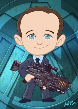 Avengers Agent Phil Coulson Art Card by kevinbolk