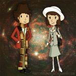 The Doctor and Sarah Jane by purpleandsparkling