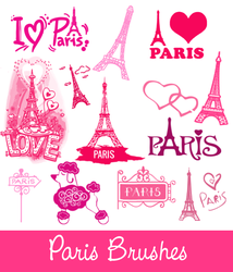 Paris Brushes by JessikaFernandes