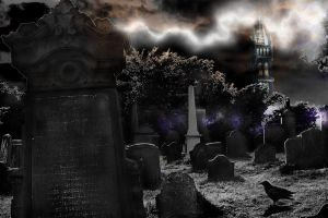 classical horror cementery by Ryoishen