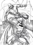 The Batman and Daredevil Sketch by jey2dworld