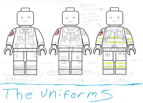 Lego-uniforms by BERNEST