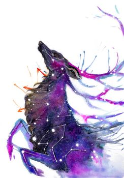 Galaxy Deer by RubisFirenos