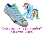 Rainbow Dash shoes by DoctorRedBird