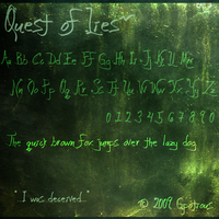 FONT: Quest of Lies by Gpotious