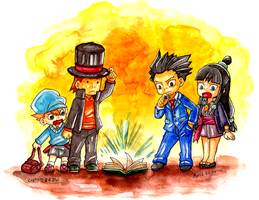 Professor Layton vs Phoenix Wright by Captain--Ruffy