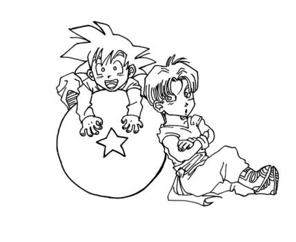 Chibi Goten and Trunks INKED by AllyScrubsLove
