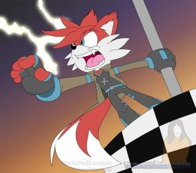 COMMISSION: Pyro the Fox by Trowelhands