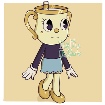 Ms. Chalice - Cuphead by ItsMiaAndDE