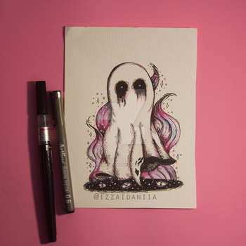 INKTOBER 2017 - Day 1: Ghost by amortentia15