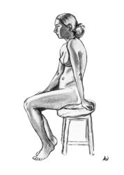 Life drawing by Awstein