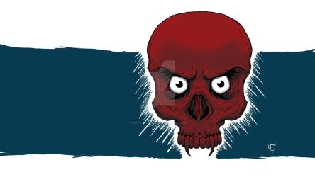 Red Skull With Eyes by Wrath-of-Vader