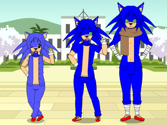 My version(s) of Sonic in Kisekae by FlainYesFourzeNo