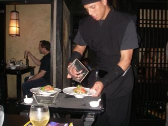 NYC- The Ninja Restaurant- Our Waiter by Kabuki-Sohma