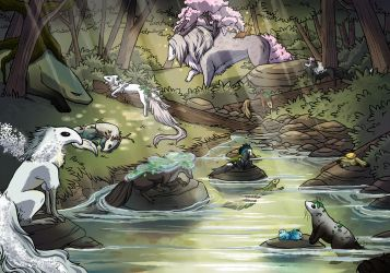 [YEH] Forest Stream by Woolifox