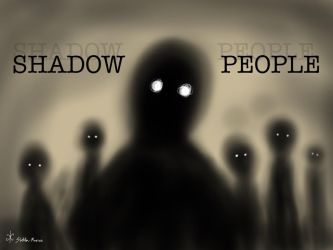 Shadow People Cover Art  (for Hat Wearing Ghost) by Stella-Marius