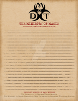 Magical Transportation Department Stationery by Niongi