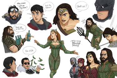 JL Sketches colored by pencilHead7
