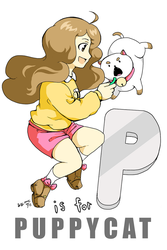 P Is For Puppycat by rain-and-sunshine