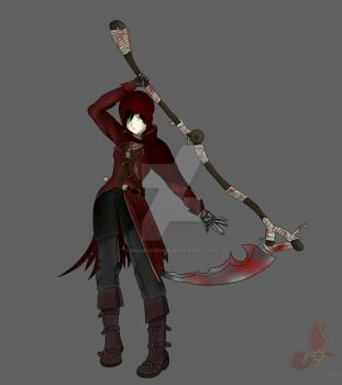 RWBY X Bloodborne - Blood Rose Hunter by ShadeofGrimm