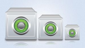 Realistic Vault Icon in Photoshop by AinsleyB