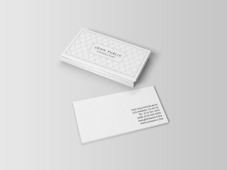 Elegant Black and White Pattern Business Cards by es32