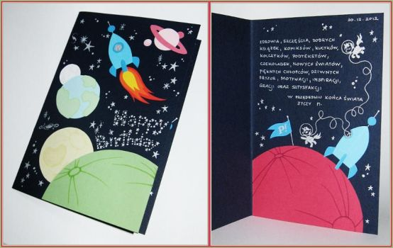 Birthday Card Ponies In Space By N Th Green On Deviantart