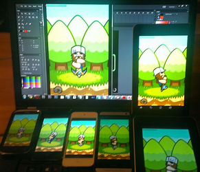 Treasure Miner on multiple devices by ZEGMAN